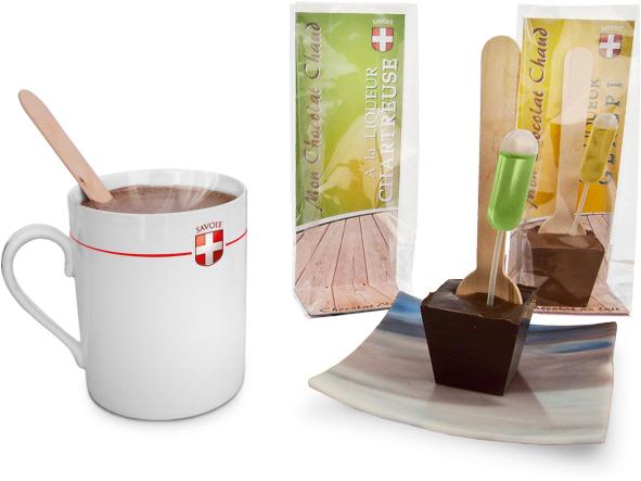 Chocolat chaud à la liqueur de Chartreuse ou Génépi de Savoie