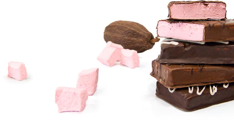 Tablette de Chocolat fourrée à la Guimauve Artisanale