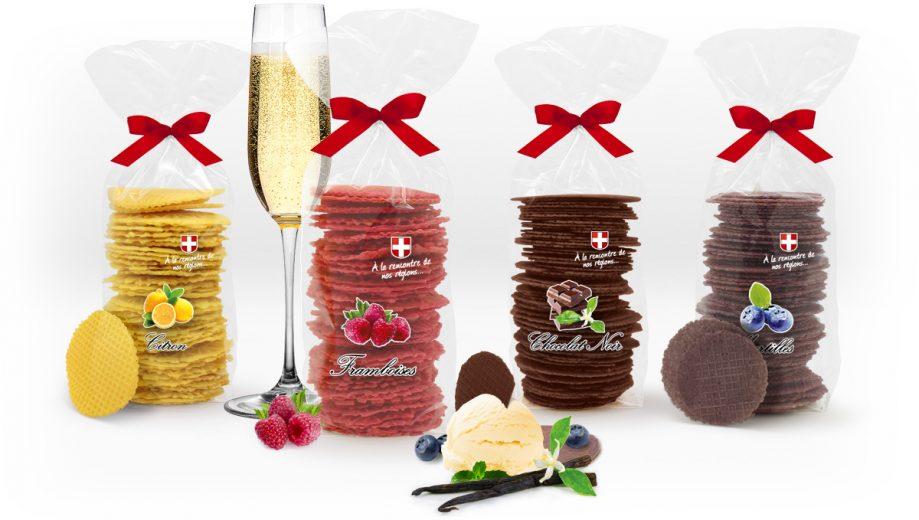 Bricelets de savoie, desserts sucrés, eden chocolats, fabrique artisanale et familiale.